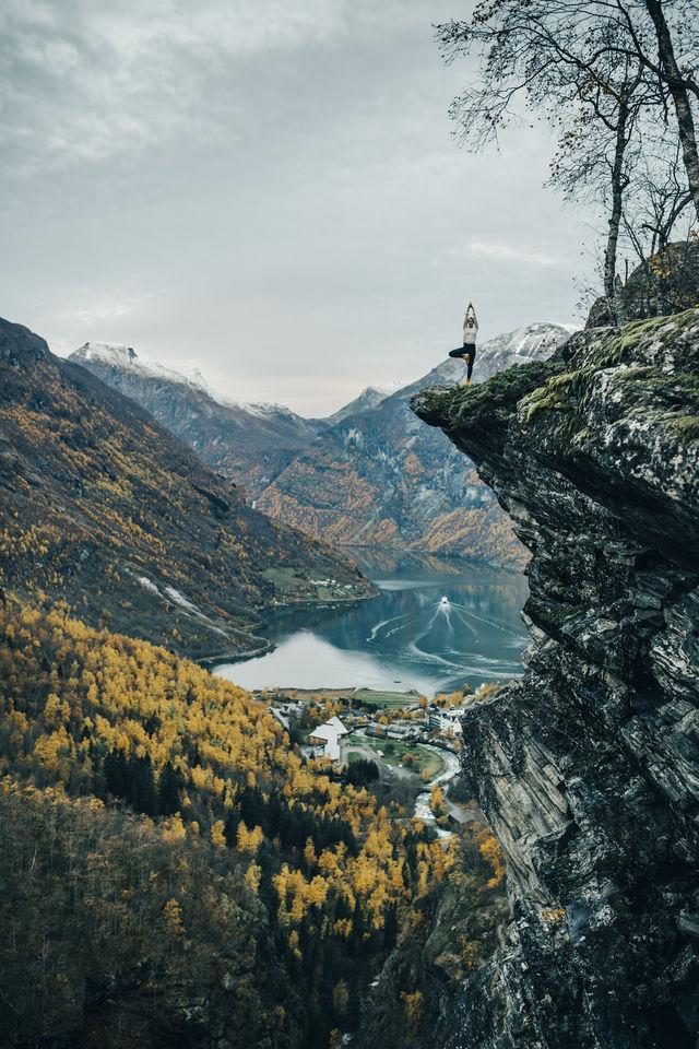 Uitzicht Geirangerfjord Sunnmøre Noorwegen