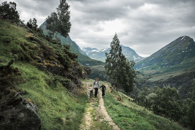Wandelen Geiranger Sunnmøre Noorwegen