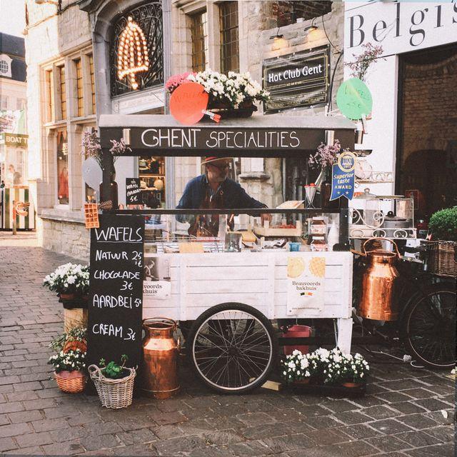 Wafelkraampje Gent Oost-Vlaanderen België
