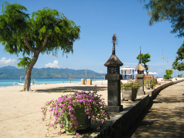 Strand Gili Trawangan Bali Indonesië