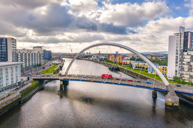 Clyde Arc Glasgow Schotland