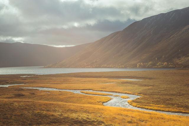 Loch landschap Schotland