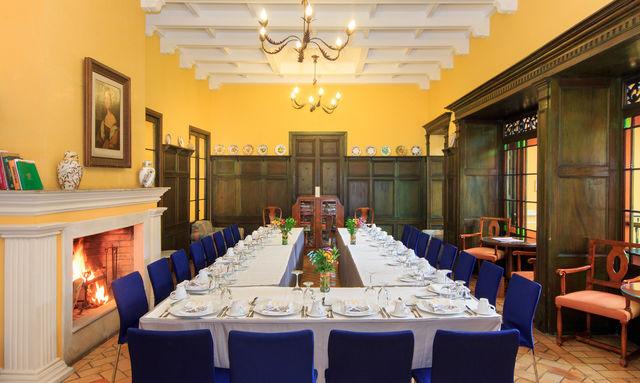 Rondreis Colombia Bogota hotel de la Opera ook diners mogelijk voor grotere gezelschappen