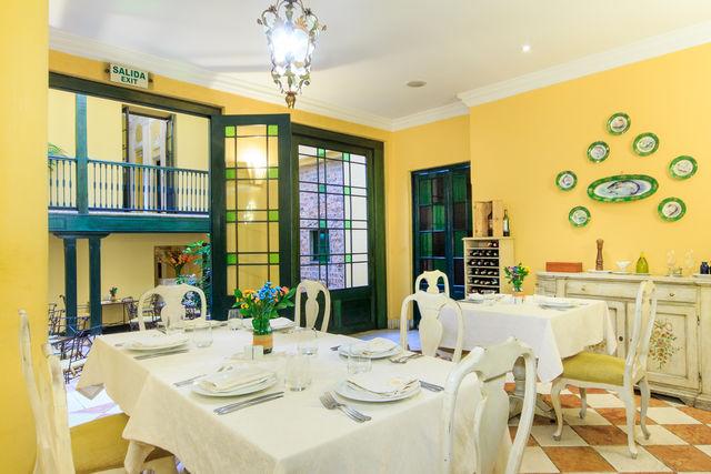 Rondreis Colombia Bogota hotel de la Opera detail van het restaurant