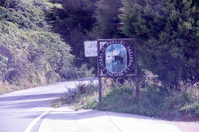 Rondreis Colombia Quindio Los Nevados National Park aankondiging ingang park