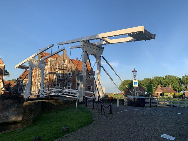 Brug, Enkhuizen, Noord-Holland, Nederland