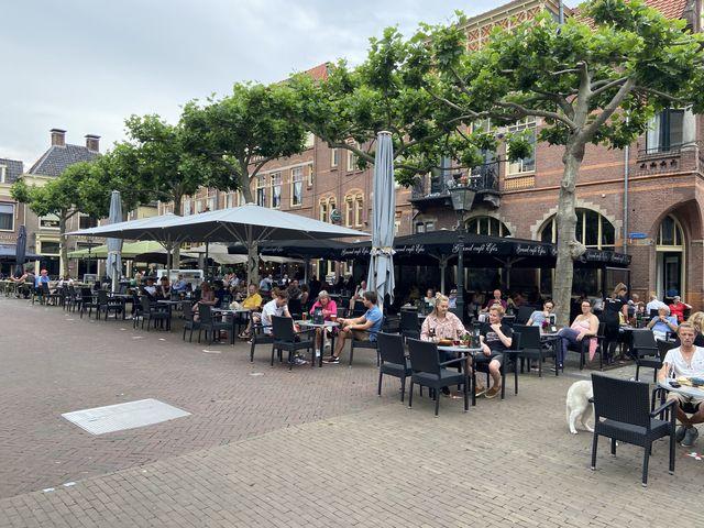 Terras Kampen, Overijssel, Nederland
