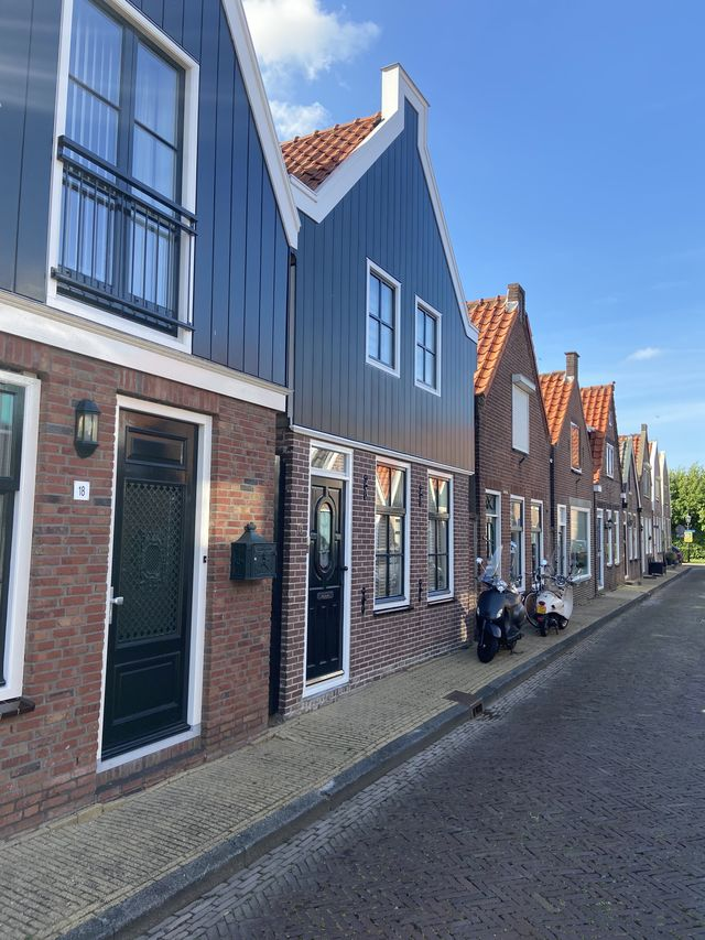 Gevels Volendam, Noord-Holland, Nederland