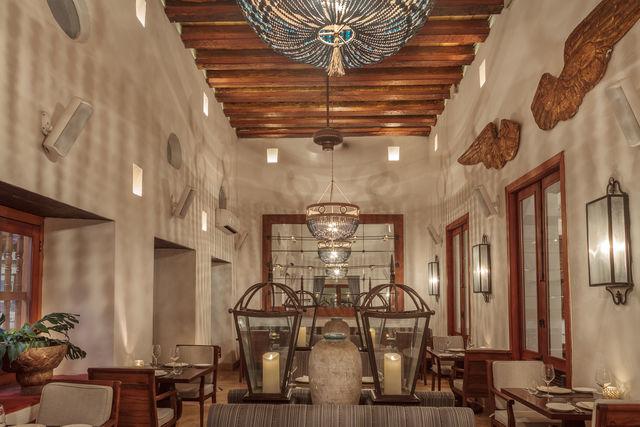 Rondreis Colombia Bolivar Cartagena Casa San Agustin met de sfeervolle lobby