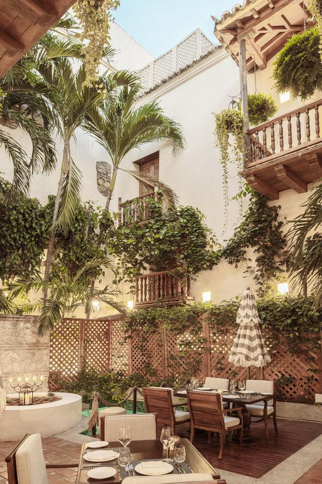 Rondreis Colombia Bolivar Cartagena Casa San Agustin overzichtsfoto gebouw