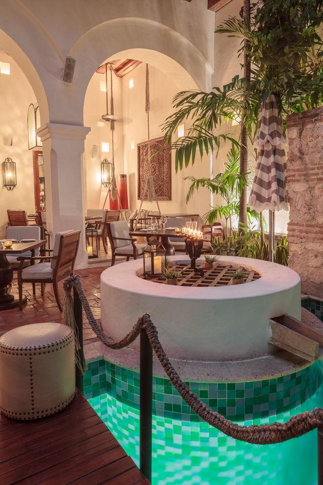 Rondreis Colombia Bolivar Cartagena Casa San Agustin de lobby van het hotel