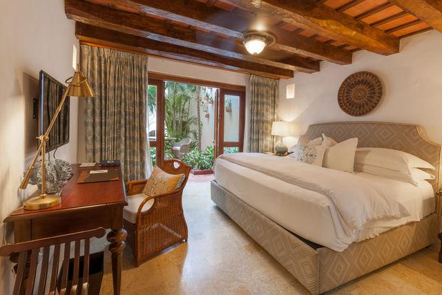 Rondreis Colombia Bolivar Cartagena Casa San Agustin slaapakamer benedenverdieping