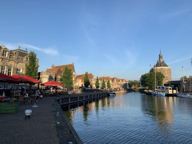 Gracht, Enkhuizen, Noord-Holland, Nederland
