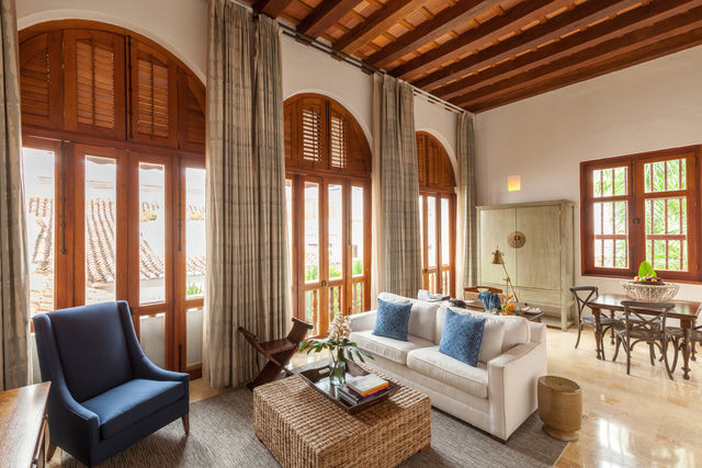 Rondreis Colombia Bolivar Cartagena Casa San Agustin voorbeeld junior suite