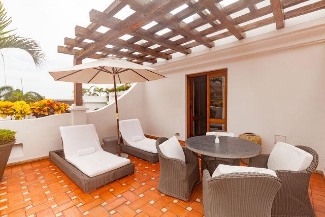 Rondreis Colombia Bolivar Cartagena Casa San Agustin suite met eigen dakterras