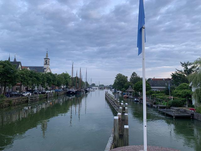 Grachten Muiden, Noord-Holland, Nederland