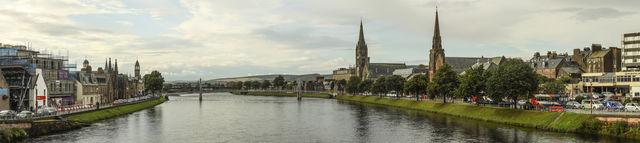 Inverness rivier panoramo Schotland