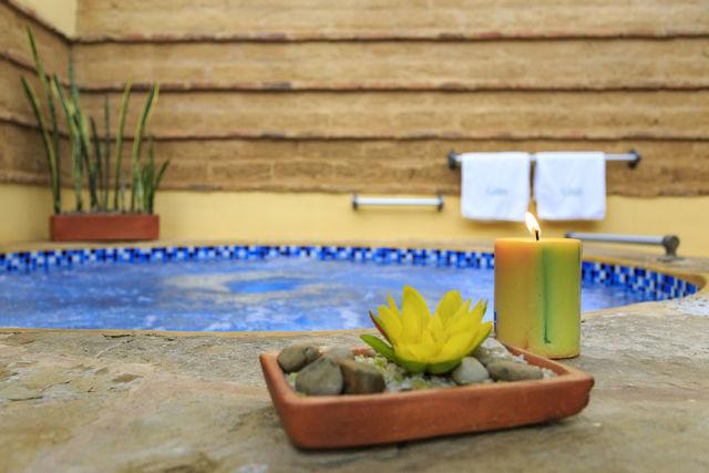 Rondreis Colombia Ricaurte Villa de Leyva Getsemani jacuzzi en spa