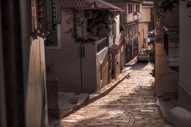 Straat Kalamáta Peloponnesos Griekenland