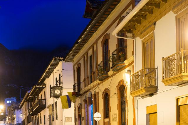 Rondreis Colombia Bogota Avondopname La Candelaria