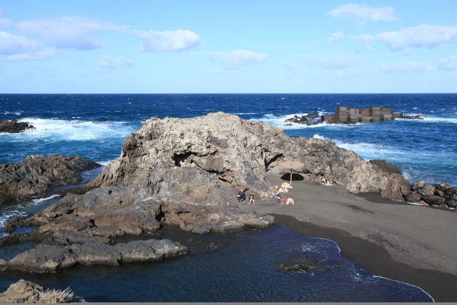 Strand Playa de los Cancajos Canarische Eilanden Tenerife