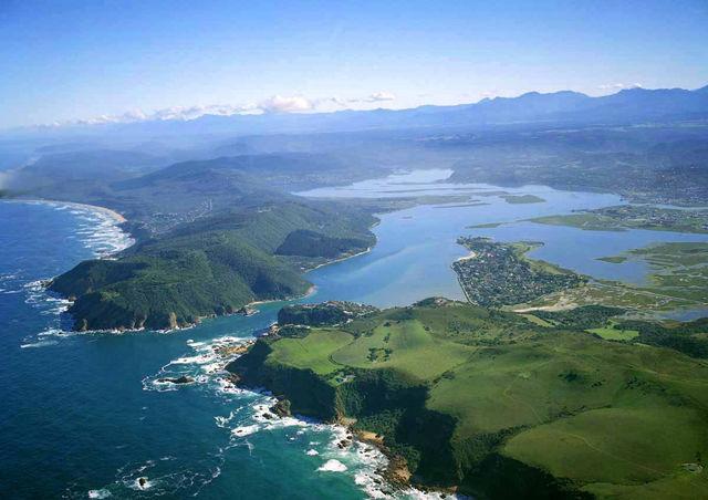 rondreis zuid-afrika Tuinroute plettenberg luchtfoto