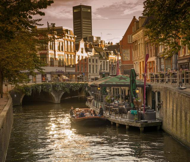 Kanaal Leeuwarden Friesland Nederland
