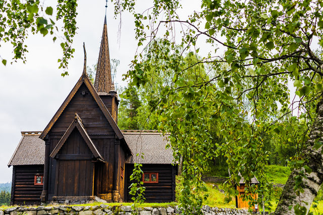 Maihaugen Stavechurch Lillehammer Oppland Noorwegen