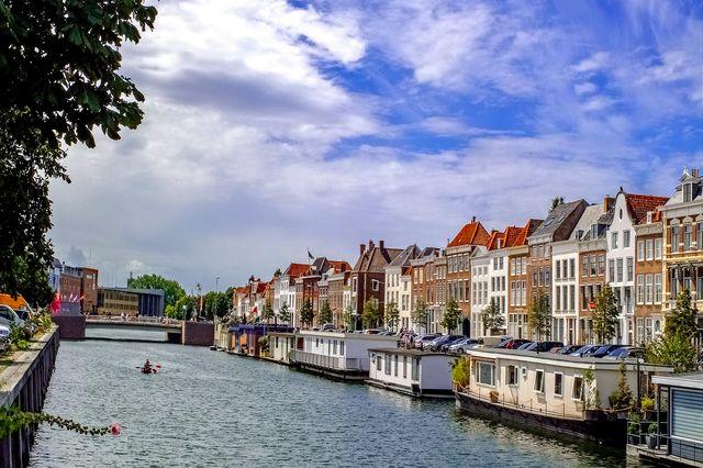 Kanaal Middelburg Zeeland Nederland
