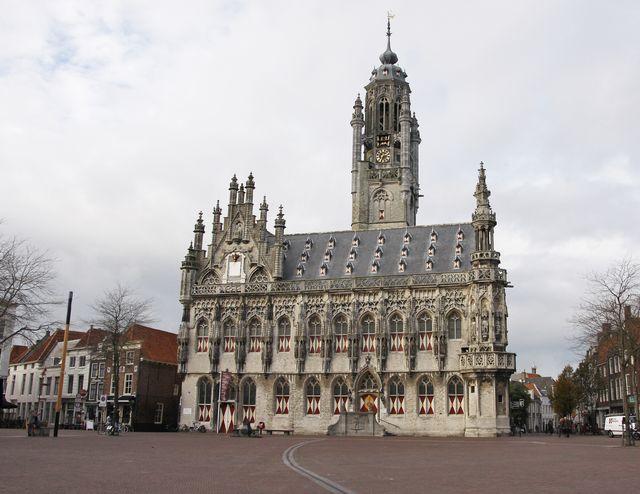 Stadhuis van Middelburg Zeeland Nederland