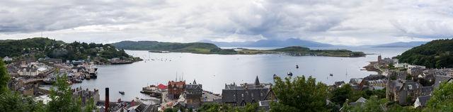 Oban stad panorama Schotland