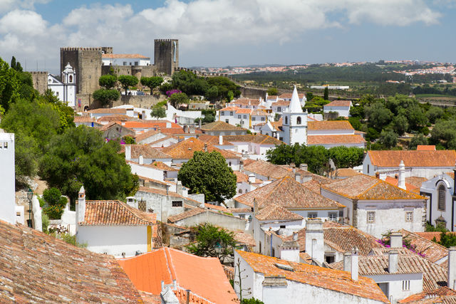 Obidos stad Portugal