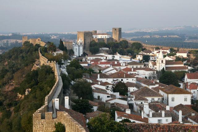 Portugal Obidos stad kasteel