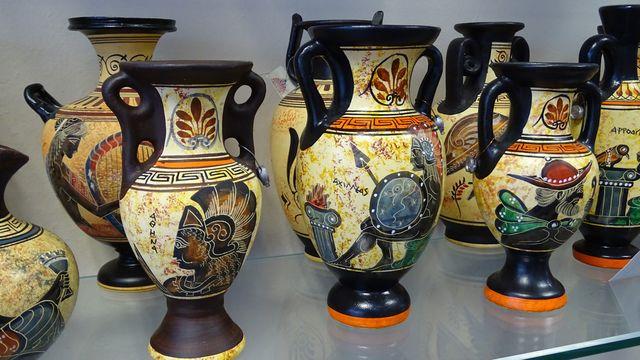 Historische vasen Olympia Peloponnesos Griekenland