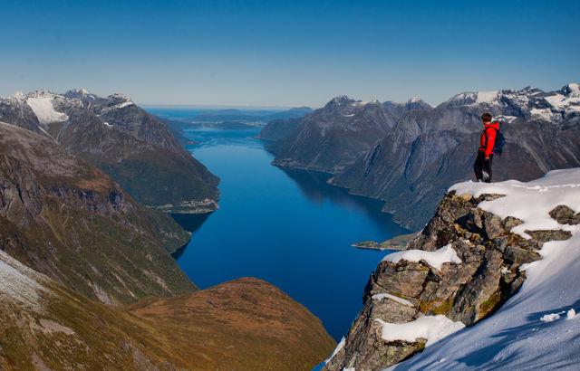 Hjorundfjorden Ålesund Sunnmøre Noorwegen