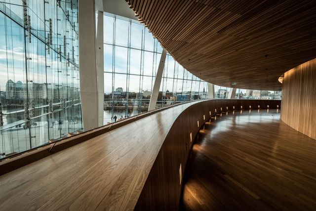 Operahuis Oslo Oslofjord Noorwegen