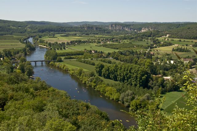 Rivier Paysage Dordogne Frankrijk