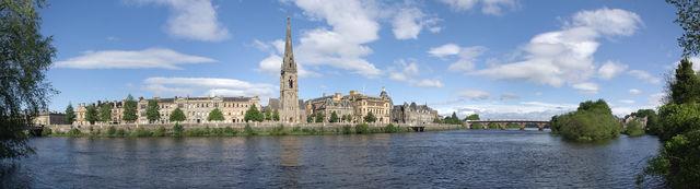 Perth stad panorama Schotland