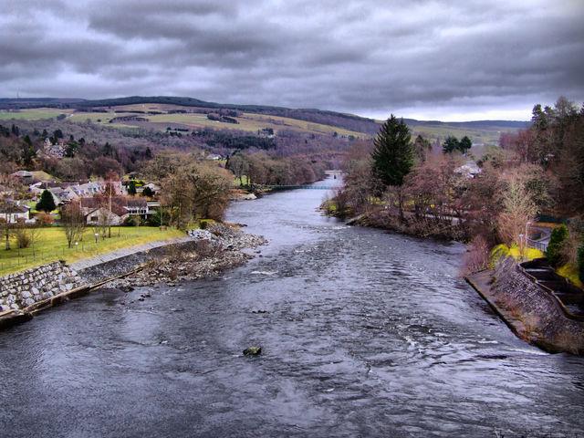 Rivier Pitlochry Schotland