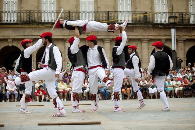 Bilbao Plaza Berria Plaza Nueva traditionele dans