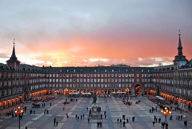Plaza Mayor Madrid Spanje