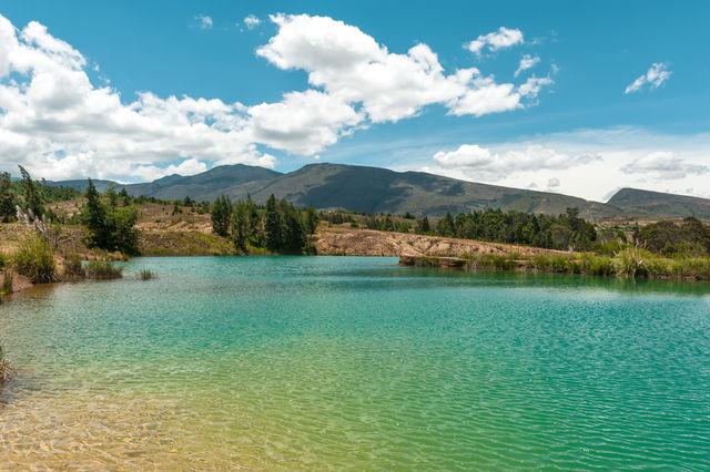 Rondreis Colombia Ricaurte Villa de Leyva een meer in de omgeving