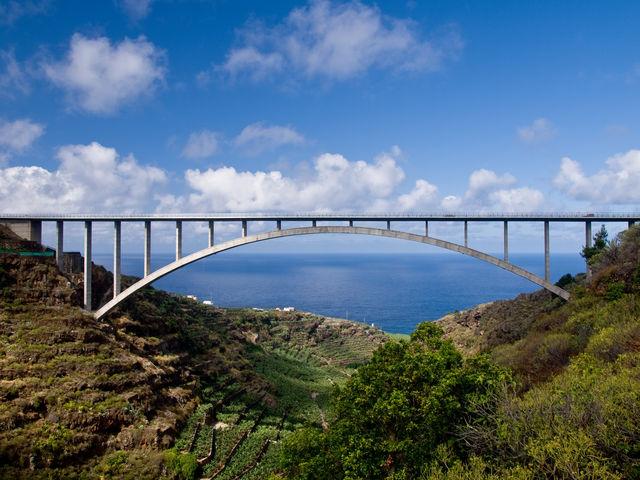 Brug Puente de los Tilos Canarische Eilanden Tenerife
