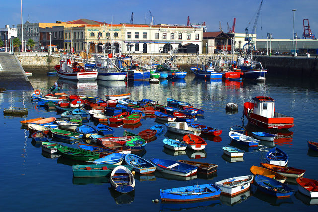 Bilbao haven Puerto de Santurtzi Spanje