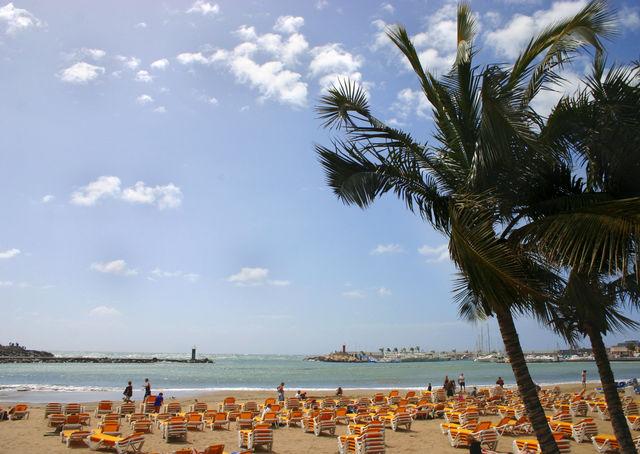 Strand Playa Puerto Rico Canarische Eilanden La Palma