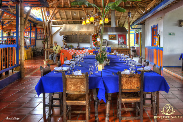 Rondreis Colombia Risaralda Filandia Bosques del Saman restaurant