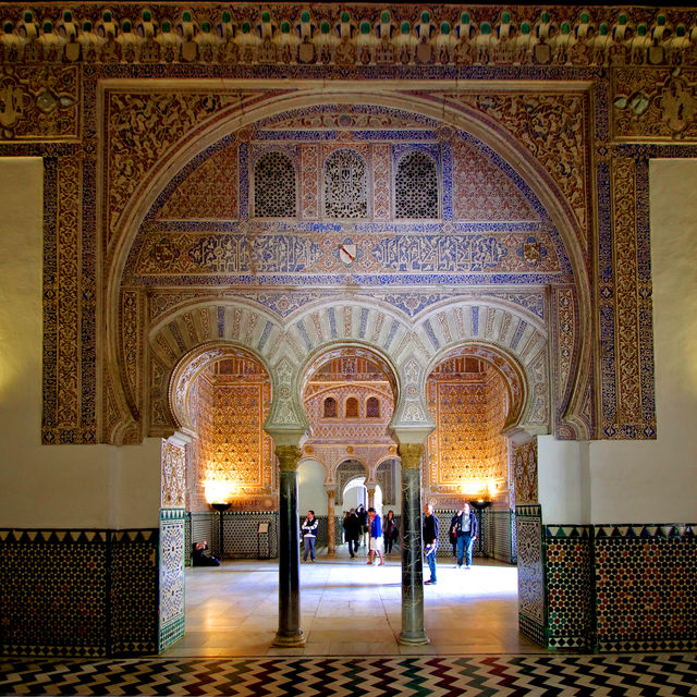 Sevilla paleis Real Alcazar Andalusië