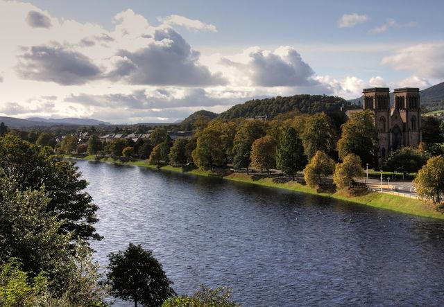 Rivier Ness Inverness Schotland