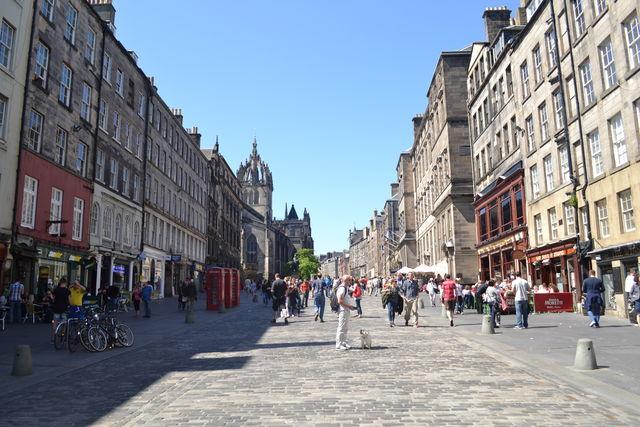 Edinburgh Schotland straat