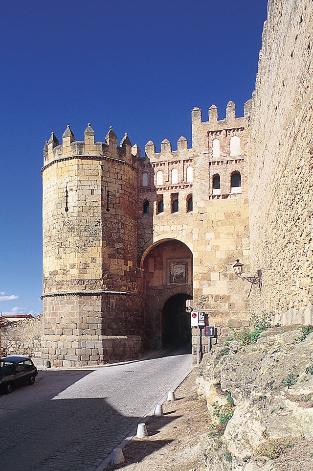 Stadsmuur Segovia Spanje